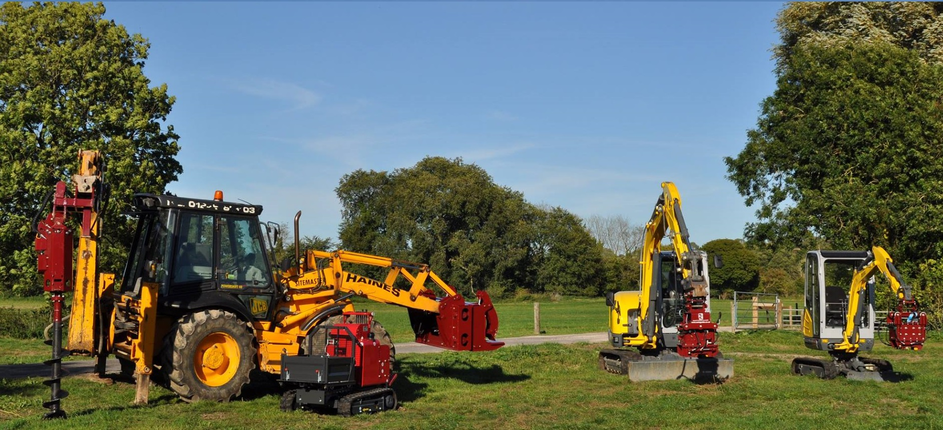 hydraulic fence post driver hire